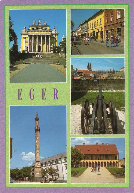 Eger, Hungary Multi-view Postcard