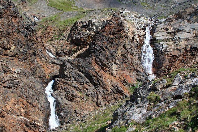 Waterfalls everywhere on the Crow Pass Trail