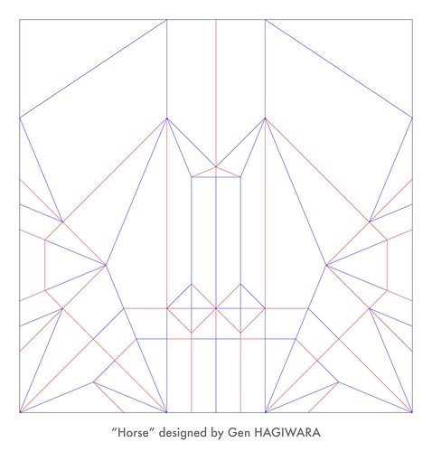 馬 展開図 / Horse crease pattern | by Gen Hagiwara
