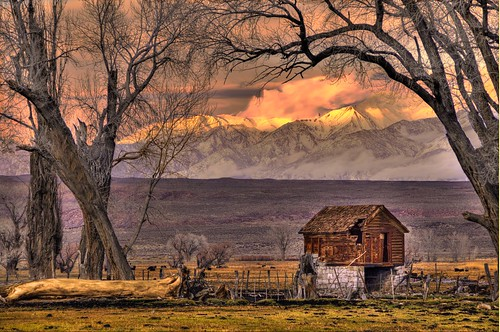 Winter Twilight,  Owens Valley