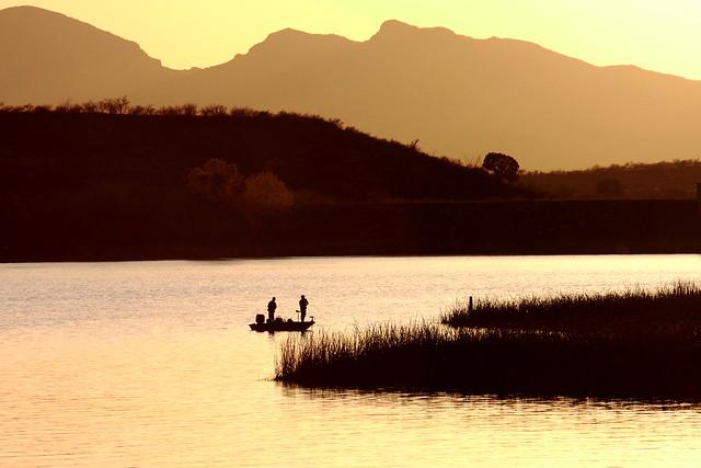 Graphic Sunset, Patagonia Lake