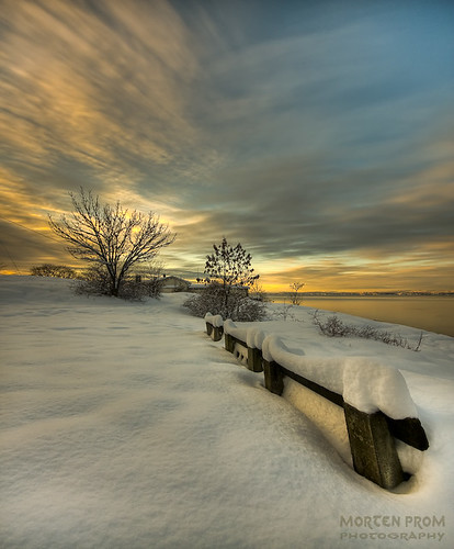 Winterly sunset