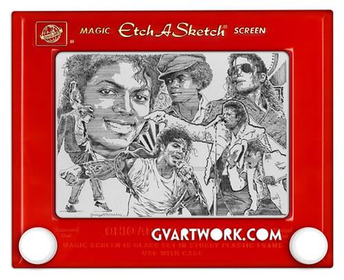 Michael Jackson etch a sketch by george vlosich