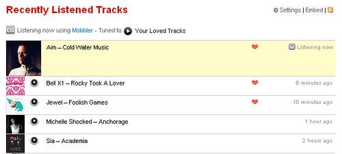 Listening via Mobbler