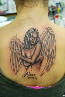 alexa angel tattoo | by johnny gage