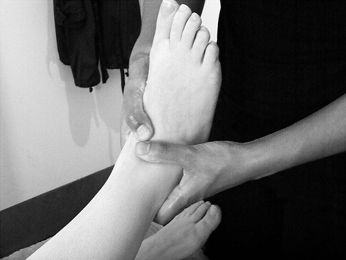 Massage 2 b/w | by Kirsty Topping