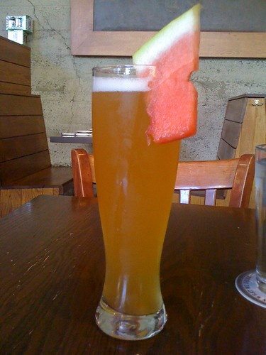 Watermelon wheat beer | by Nicole Lee