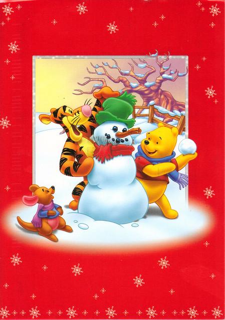 Winnie the Pooh Winter Postcard