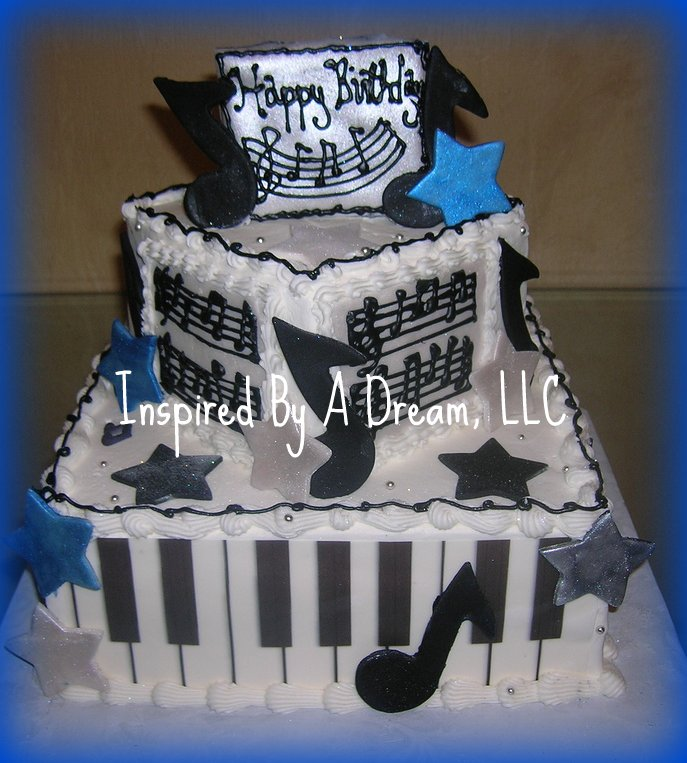 Tremendous Musical Birthday Cake A Photo On Flickriver Personalised Birthday Cards Bromeletsinfo
