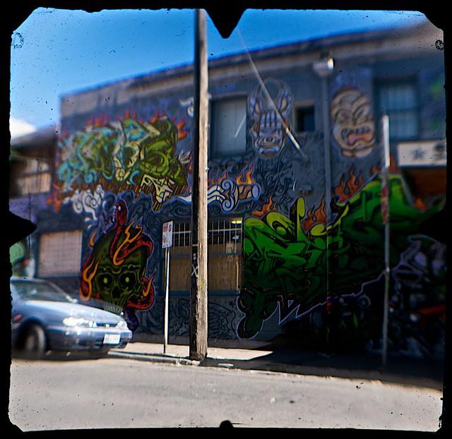 Street Art, Young Street, Fitzroy, Melbourne  (TTV-090319-2141-H)