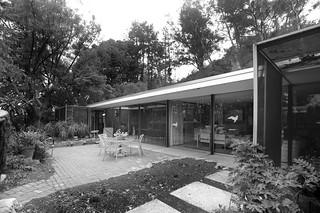 Shulman residence: rear courtyard