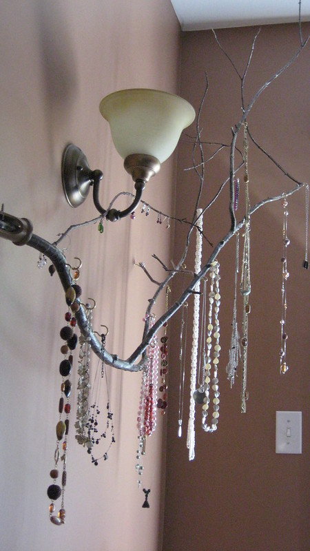 Jewelry Holder Tree Branch With Hooks Set Into A Flag Hold Dallas Maddox Flickr