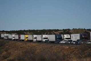 Semi trucks lined up | by josephbergen