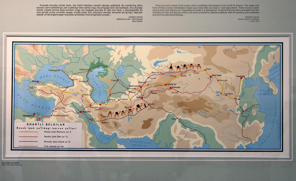 1254 - Museum Map of Ancient Silk Road, Samarkand | Allan ... Samarkand Map on damascus map, odessa map, baghdad map, timbuktu map, medina map, kashgar map, indus river map, herat map, singapore map, merv map, tashkent map, central asia map, karakorum map, silk road map, almaty map, oxus river map, urumqi map, uzbekistan map, seville map, rome map,