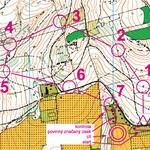 mapka závodu v orientačním běhu, foto: archív behej.com