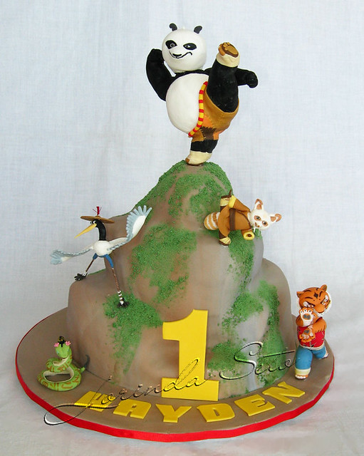 Fabulous Kung Fu Panda Birthday Cake With Figures Made From Sugar M Flickr Funny Birthday Cards Online Elaedamsfinfo