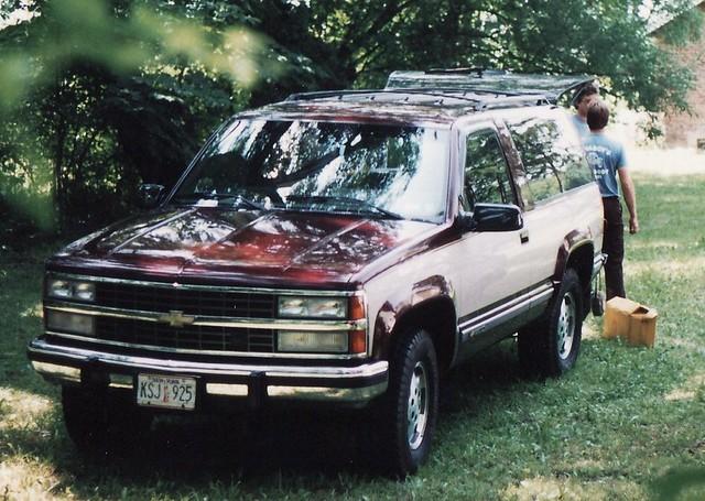 A 1993 CHEVY BLAZER IN JULY 1996