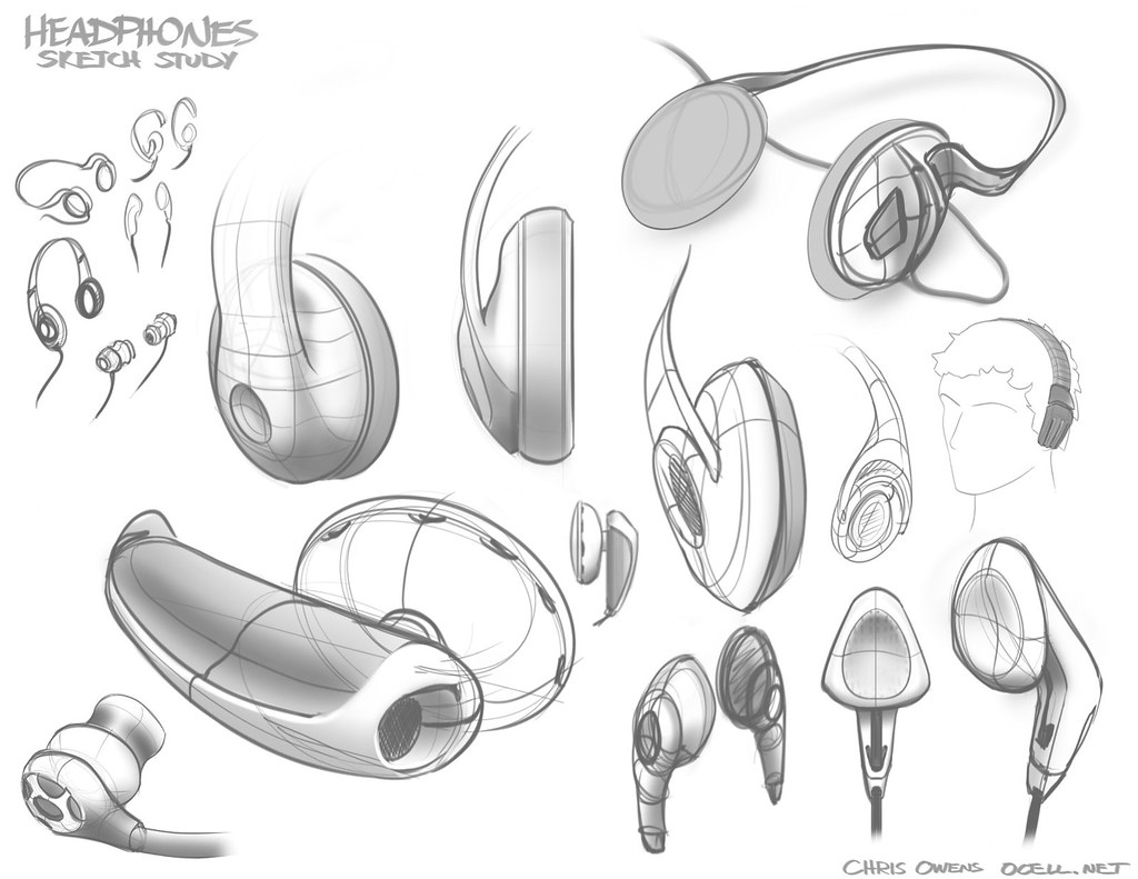 Headphones sketches by ocell headphones sketches by ocell