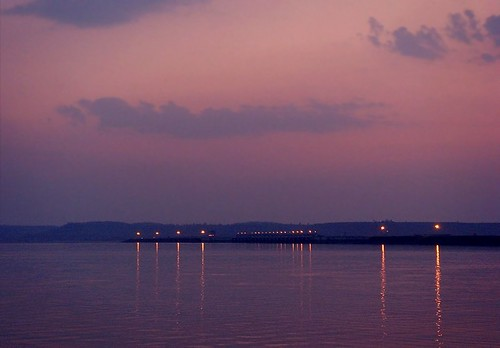 reflections lights evening dam narmada madhyapradesh ndia ncredible bargidam bargireservoir