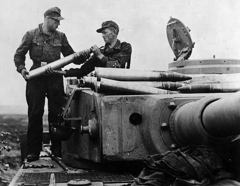 Image result for tiger tank loading shells