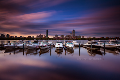 longexposure morning pink blue urban seascape motion clouds marina sunrise river photography early dock colorful cityscape cloudy charlesriver wideangle yachts waterblur backbay hancocktower waterreflection yachtclub bostonskyline prudentialtower cloudmovement watermirror neutraldensity bostonphotographer leefilters canon6d bigstopper gregdubois
