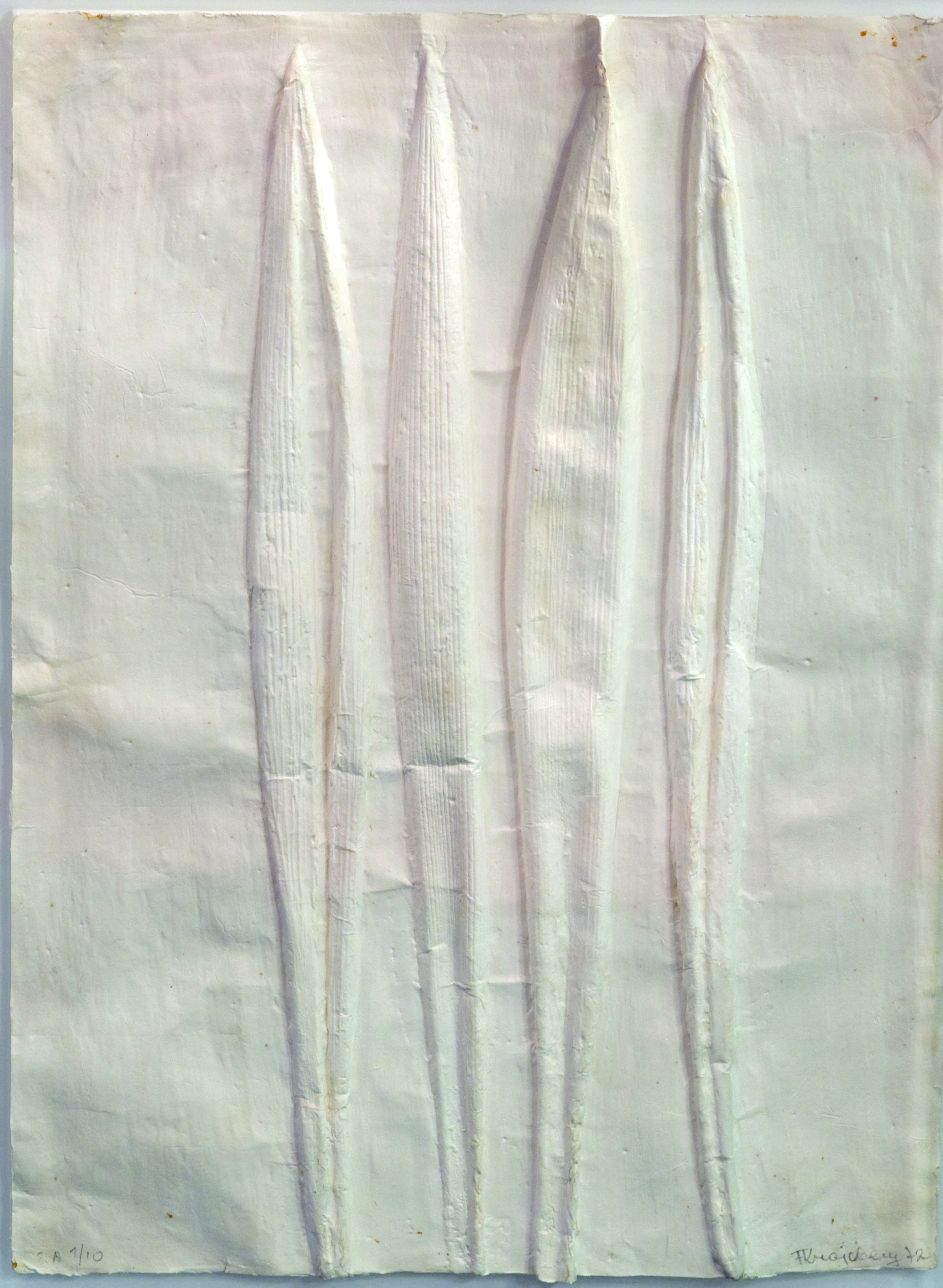 Sem título Autor: Frans Krajcberg Ano: 1972 Técnica: Modelagem de gesso impresso em papel japonês Dimensões: 75cm x 55cm