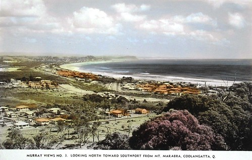 North towards Southport from Mount Marabra, Coolangatta, Australia - 1940s | by Aussie~mobs