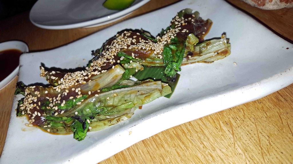 Grilled Baby Gem Lettuce - Tasting Menu ROKA (Medium)