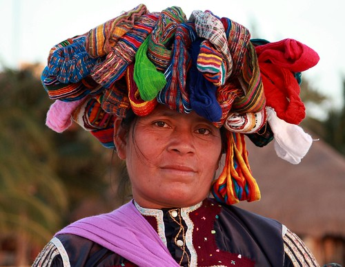 Portrait of a vendor selling hair bands on Isla Mujeres