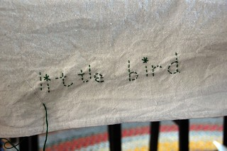 new tablecloth from a painter's drop cloth | by eren {sea+prairie}
