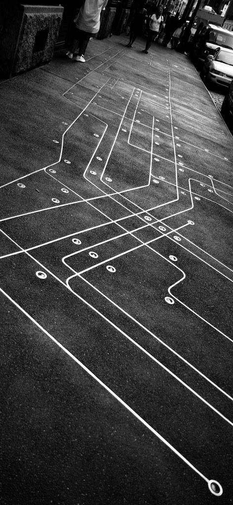 Subway Map Floating On A New York Sidewalk.Subway Map Floating On A New York Sidewalk I Found This Flickr