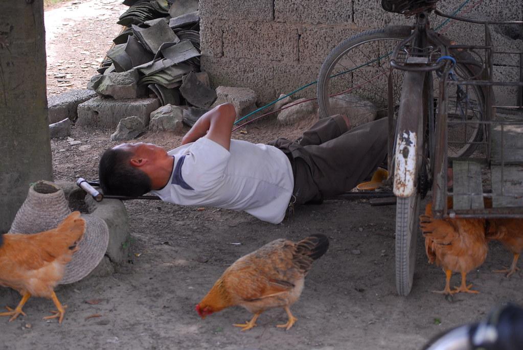 Some people can sleep anywhere