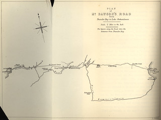 Plan of Mr. Dawson's Road from Thunder Bay to Lake Shebandowan (1871) | by Manitoba Historical Maps