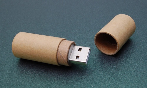 Recycled Paperboard Tube USB Drive 2 | by CustomUSB.com