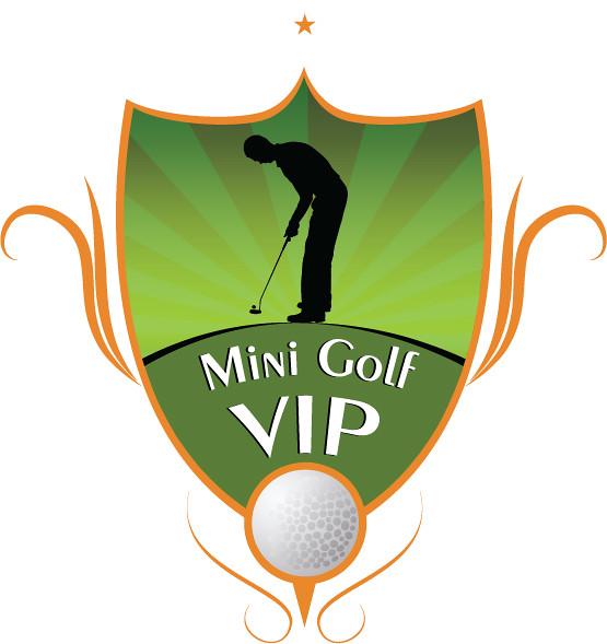 logo mini golf  logo para un campeonato de mini golf