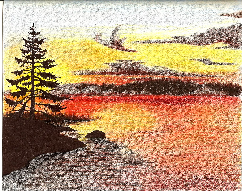 Sunset colored pencil drawing metz2009 flickr