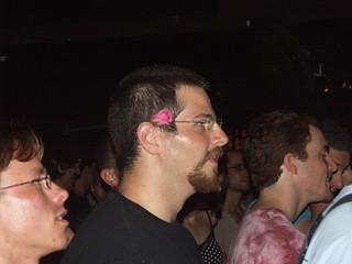 Tomer Gabel with a rose