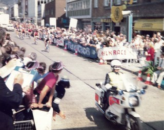 Milk race stage finish Swansea 1984
