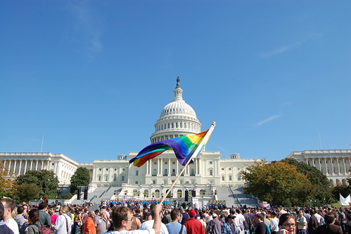 U.S. Capitol with Pride Flag at NEM | by DC Photos