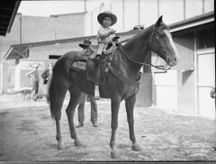 Little cowboy on horse, 22/4/1935 / by Sam Hood