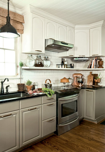 Kitchen makeover: Sophisticated neutral color palette + subway tile
