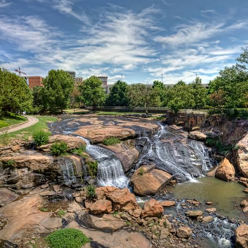 sc waterfall southcarolina greenville hdr nikond90