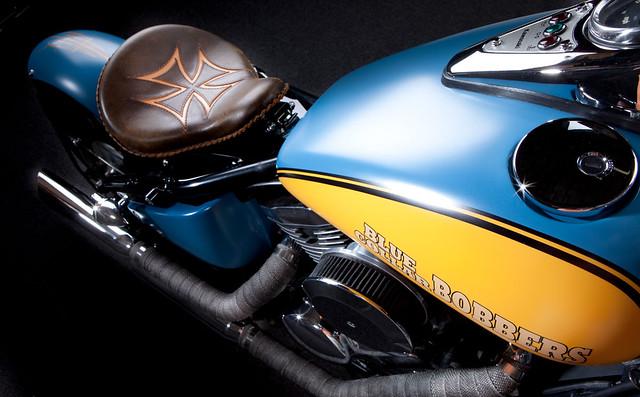 Kawasaki Vulcan 800 Bobber Top Down Closeup | This is a clos… | Flickr