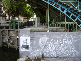ADDA'S PARIS FAVES- JEROME MESNAGER - FAVE STREET ART AT THE CANAL ST MARTIN