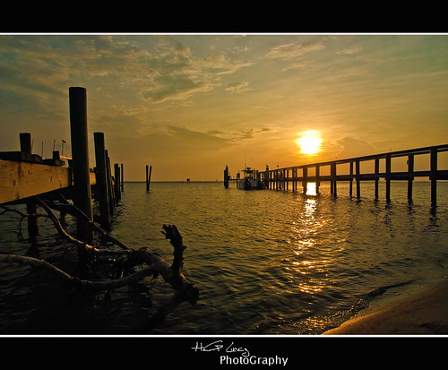 sunset sun reflection pier boat nikon sebastian florida d90 colorphotoaward