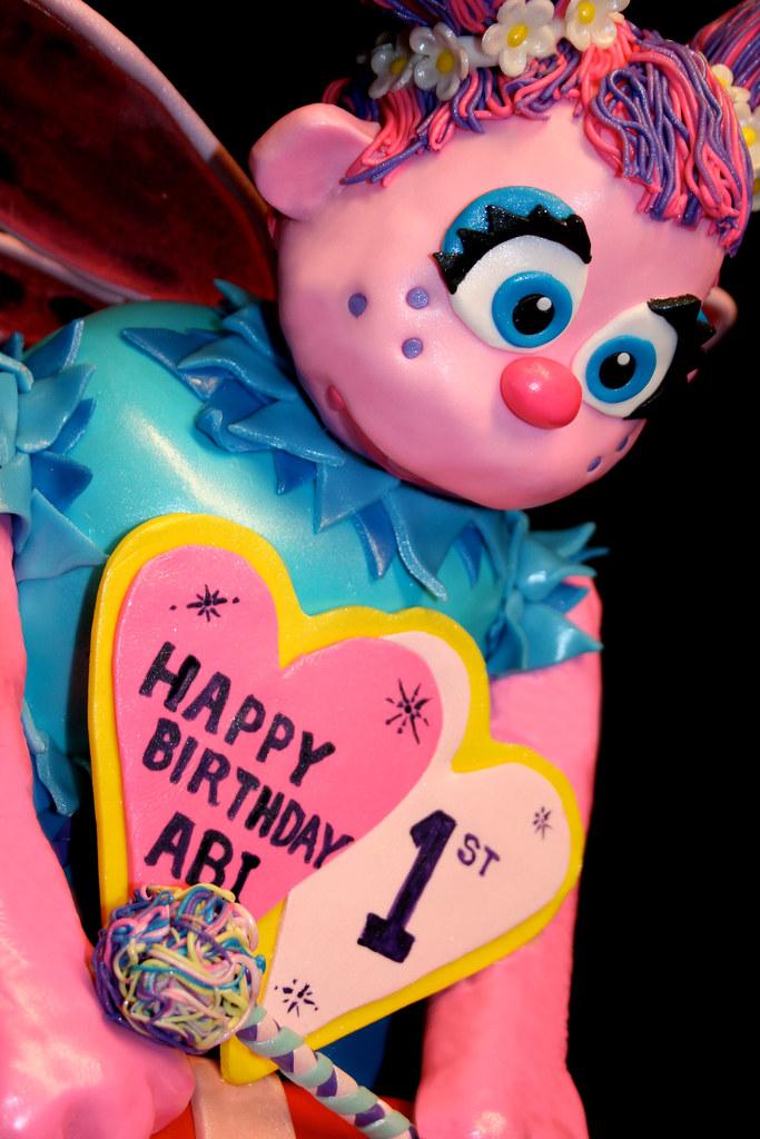 Abby Cadabby 1st Birthday Cake Detail Vanilla Cake Vani