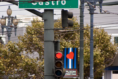 09307 Red light and Folsom Street Fair heart | by geekstinkbreath