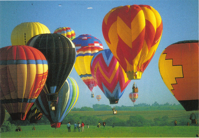 Hot Air Balloon Festival in Germany Postcard