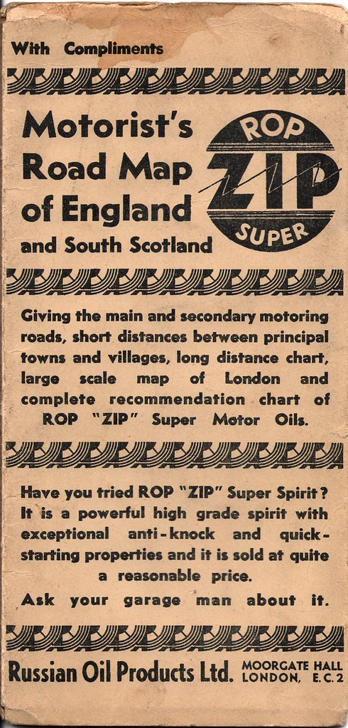 Road Map Of England And Scotland.Rop Super Zip Road Map Of England And South Scotland C193 Flickr