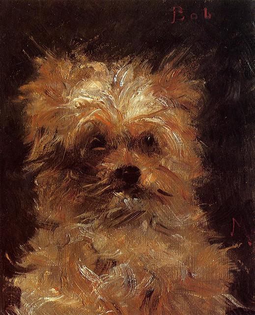 Edouard Manet 1876 - Head of a Dog, Bob - pc